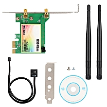 Dual Band Network Card, 1730 Mbps Wireless WiFi Network Adapter For Computer, Integrated Wireless Desktop PCI-E 2.4G / 5G Network Card With Two 3.5 DBi Antennas