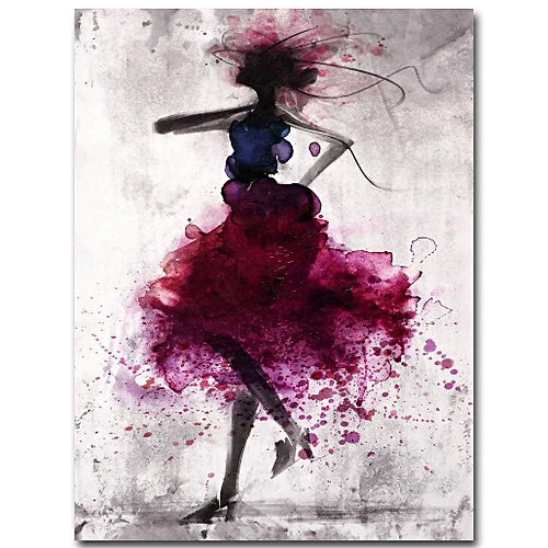 Fashion Girl Minimalist Abstract Art Canvas Poster Painting Modern Decor FA005 # # Unframed 50*70cm