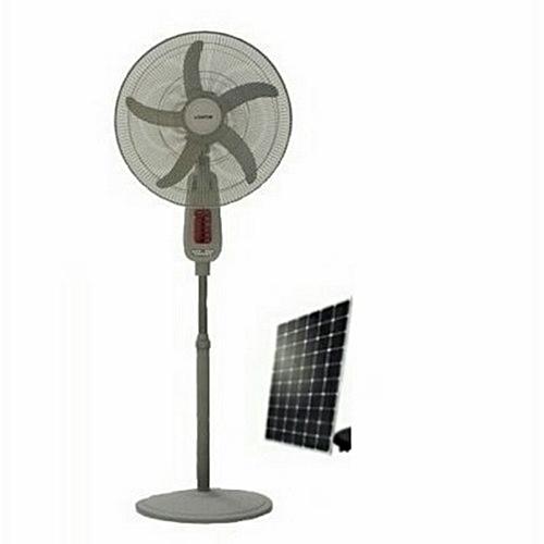 16'' Solar Rechargeable Fan + 20W Solar Panel