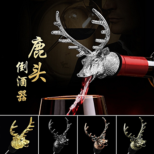 Lucky Deer Red Wine Bottle Stopper Champagne Pourer Gel Seal