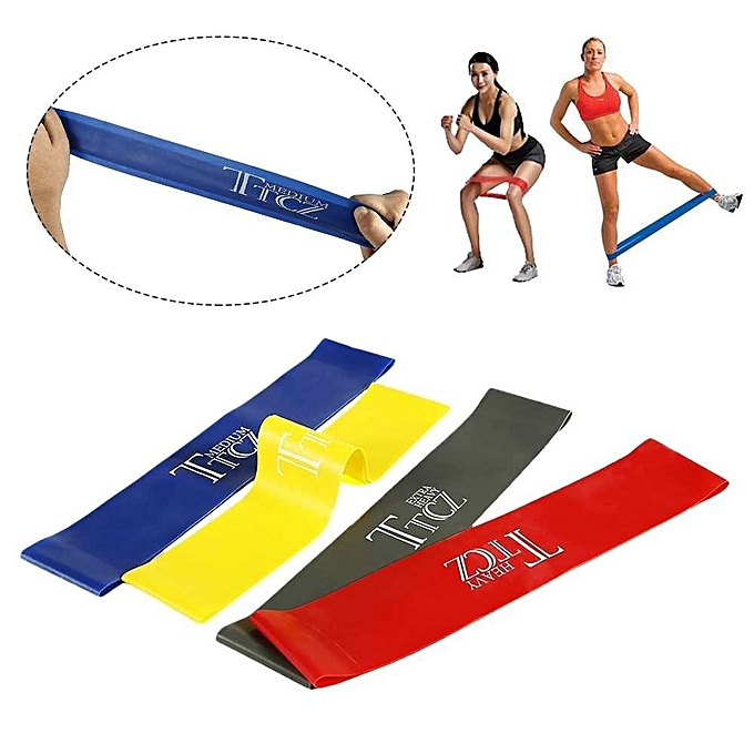 Fitness Workout Training Strength 1 Pc Latex Resistance Band Yoga Exercise