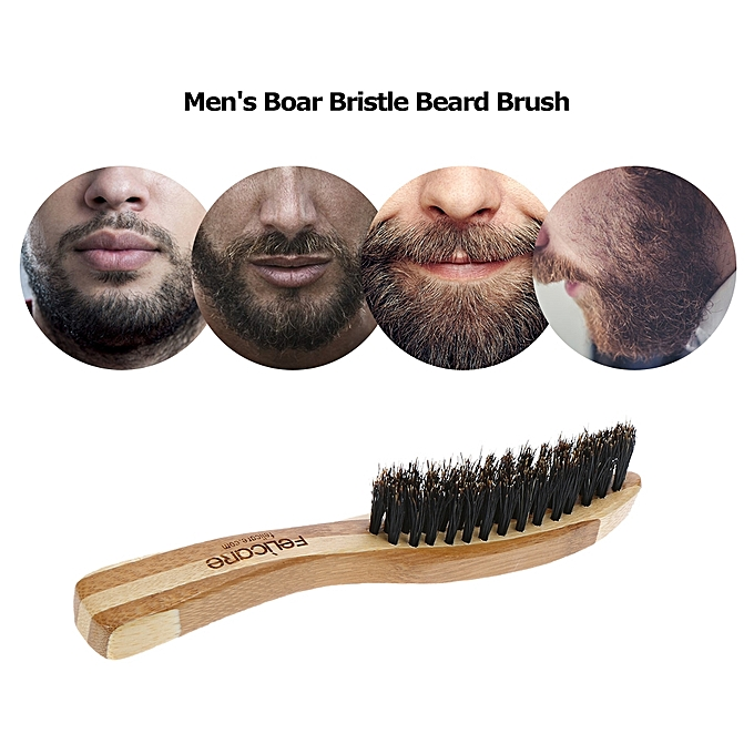 Hair Loss Products Shop For Cheap Boar Hair Bristle Black Mustache Brush Beard Care Beard Brush Gifts Shaving Brush Men Face Massager Soft Portable Fashion