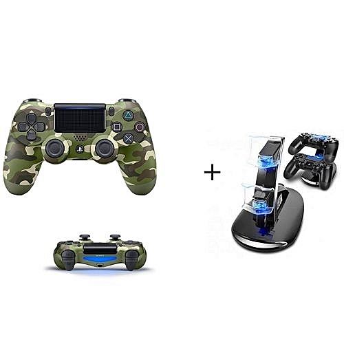 PS4 Pad Wireless Controller - Camo + Free Two Pads Charger
