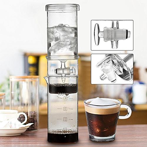 400ml Cold Brew Water Ice Drip Dutch Coffee Maker Home Kitchen Glass Machine