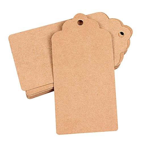 Seioure 100pcs Wedding Kraft Paper Tag Bonbonniere Favor Gift Tags As Shown