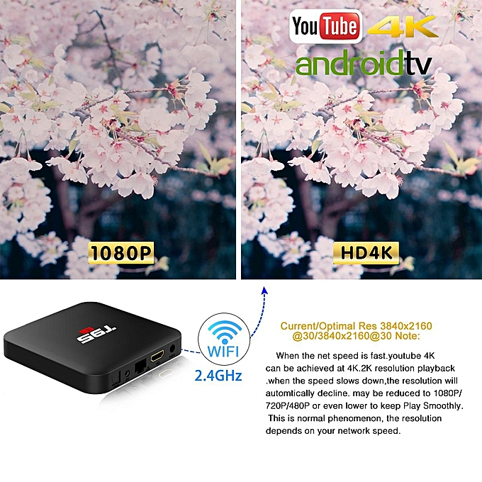T95S1 IPTV Box 64Bit 2GB RAM 16GB ROM (1 Year Warranty) (Jet Black)
