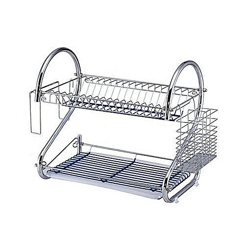 Stainless Double Layer Dish/Plate Rack,)