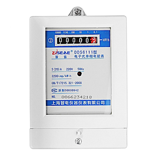DDS6111 5(20)A 220V 50HZ Single Phase Two Wire Electric Energy Meter