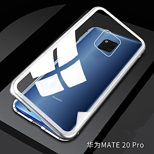 Magneto Magnetic Adsorption Metal Case For Huawei Mate 20 Pro Case Luxury Tempered Glass Cover For Case Huawei Mate 20 Pro Phone Case AKENAO