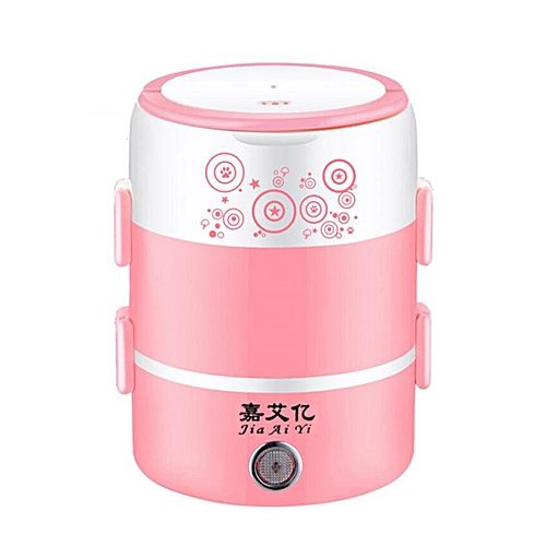 2L 3 Layers Electric Rice Cooker Heating Lunch Box Food Warmer Meal