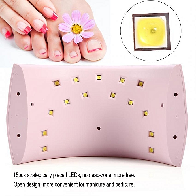 ... UVLED Nail Dryer Lamp For Nail Gel Polish Drying With Smart Sensor Manicure Tools US ...