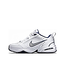 3db302eca676 Nike Air Monarch IV - White Metallic Silver-Midnight Navy