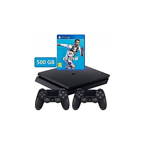 PS4 500GB FIFA 19 Bundle + 2 Pad