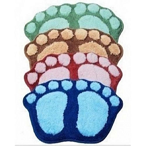 Big Foot Designed Bathroom Indoor Fluffy FootMat - 1(Piece)