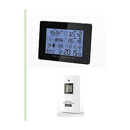 AOK-5019 - Wireless Weather Forecast Alarm Colck EU - Black