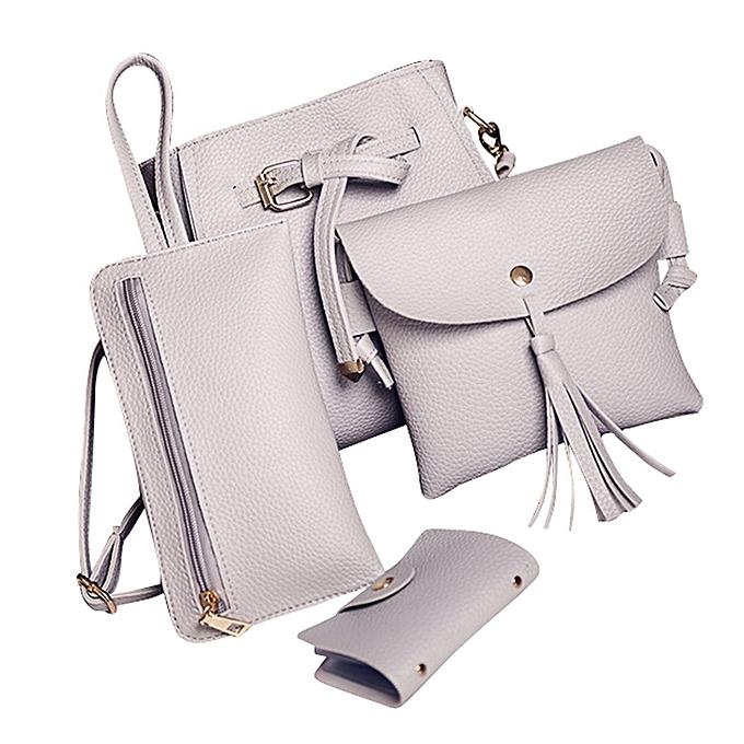 a212c8536d46d Women Four Set Fashion Handbag Shoulder Bag Four Pieces Tote Bag Crossbody  Wallt