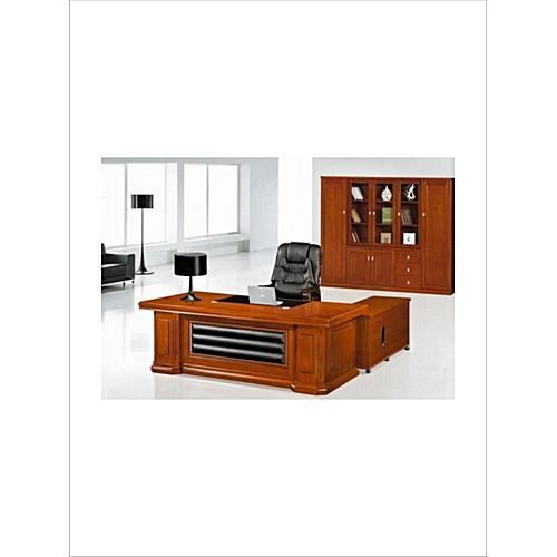 Executive Leather-Padded Desk