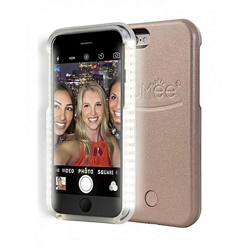 LuMee IPhone 6 Plus Selfie Light Case - Rose Gold  a9b266e58