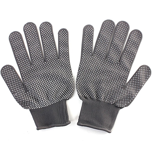 5 X Hairdressing Heat Resistant Finger Glove 1 Pair (Grey)