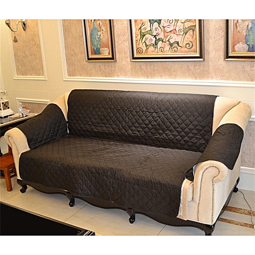 1/2/3 Seater Throw Furniture Waterproof Slipcover Sofa Quilted Protector Cover 7 Colors-Grey-21X73inches