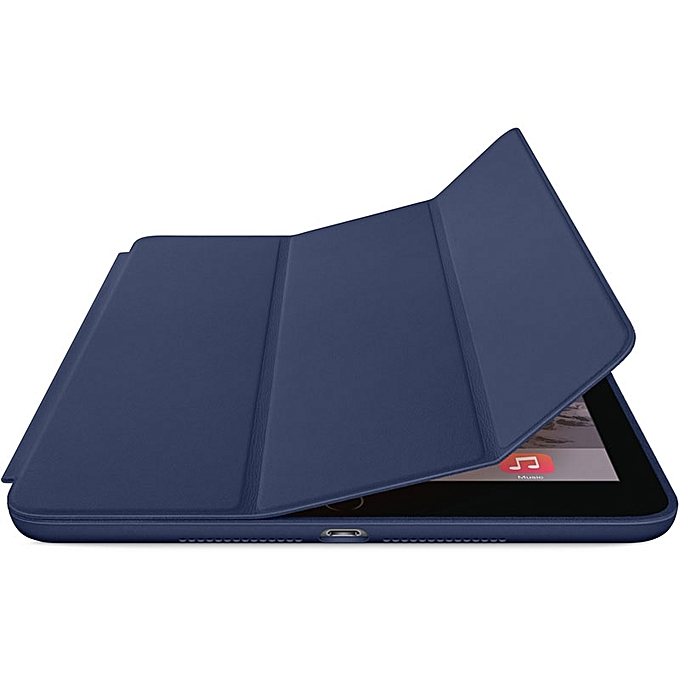 Generic For Ipad Air 2 Genuine Leather Smart Case Cover