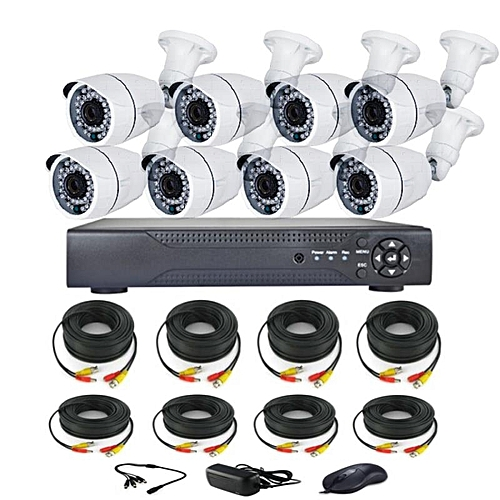 CCTV KIT 8Channel -High Definition (AHD) With Internet & 3G Phone Viewing Combo Kits