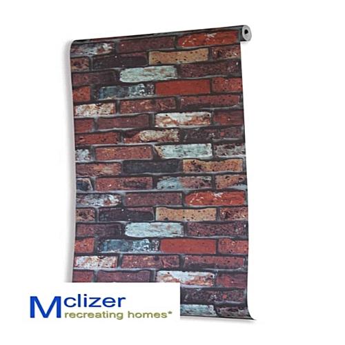 Red 3D Bricks Wallpaper