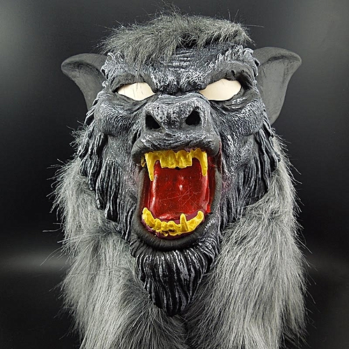 Hot Sale Latex Animal Wolf Head Mask With Hair Halloween Party Fancy Scary Dress Costume Horror Anonymous Face Masks - Colormix