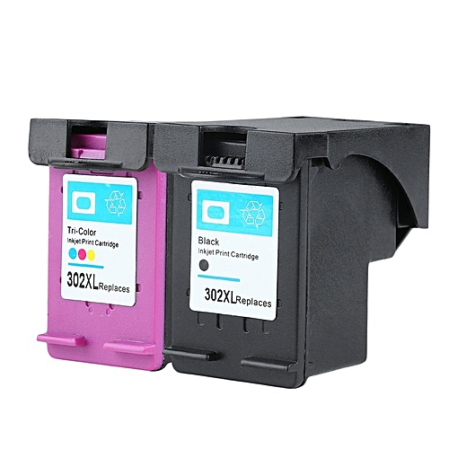 HP-New Non-OEM Ink Cartridge For HP 302 Hp-302 DESKJET 2130 1110 1pc Black And 1pc Tri-color