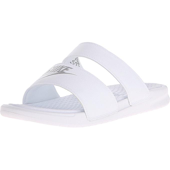 44514bad2c34 ... Nike Benassi Duo Ultra Slide - White Metallic Silver ...