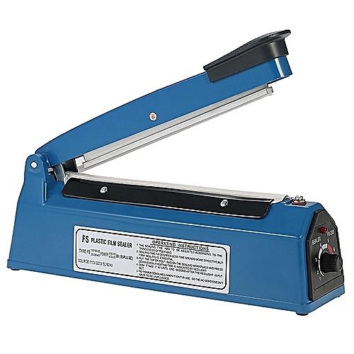 GENERIC 220V 50HZ/PFS 400MM MANUAL&MULTI-PURPOSE PLASTIC FILM SEALER, HAND&HEAT IMPULSE, POLY BAG PLASTIC FILM, BAG SEALING MACHINE + FREE ADDITIONAL GENERIC 200/300/400MM IMPULSE SEALER HEAT WIRE AND A TEFLON SHEET -BLUE
