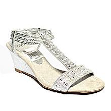 f18f3c854b26 Ladies Easyon Wedge Sandal - Silver