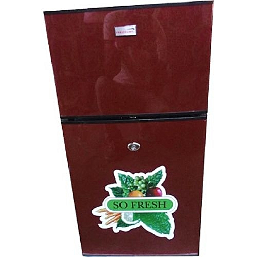 Double Door Table Size Refrigerator - FC138 - Red
