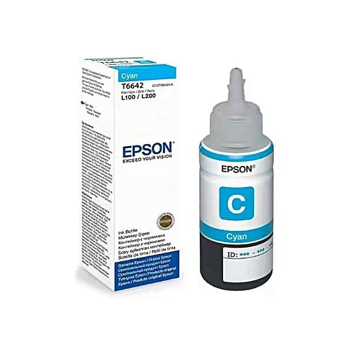 EPSON Cyan T6642 Refill Ink Bottle For L100, L110, L130, L200, L210, L220, L300, L310, L350, L355, L360, L365, L455, L550, L555, L565, L1300
