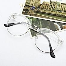 74b2e2705104d Women Men Retro Style Round Nerd Glasses Clear Lens Eyewear Metal Frame  Glasses