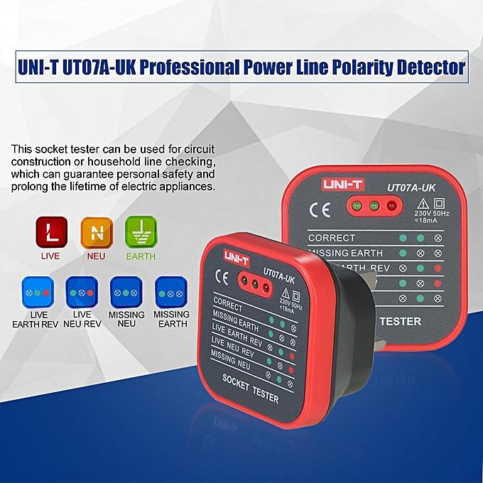 Buy Generic UNI-T UT07A-UK Professional Socket Tester Electrical ...