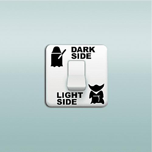 Dark Side Light Side Switch Sticker
