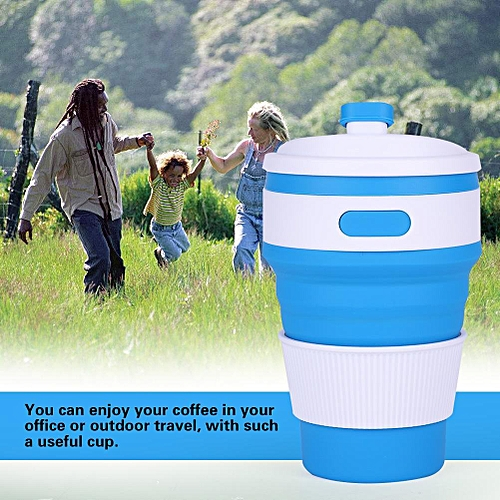 500ml Silicone Collapsible Coffee Cup Portable Teacup Water Cups Mug For Indoor Outdoor