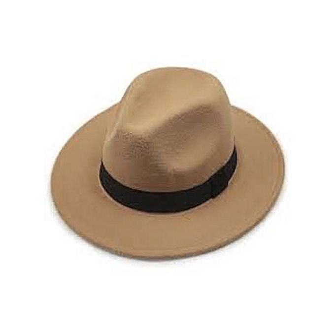 e9a33614590 Fashion MEN S FEDORA HAT -LIGHT BROWN-