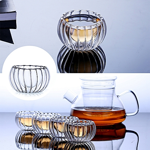 Glass Cup Teacup Eco-Friendly Glass Double Layer Drinking Tool Office Tea Cup Home Heat-Resistant