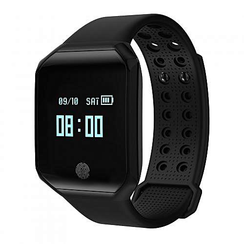 Smart Watch Heart Rate Blood Pressure Pulse Monitor Fitness Tracker IP67  Waterproof Sport Smart Wristband Bracelet Z66 Men Women For Android  IOS-Black