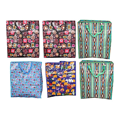 6pcs - Resalable - Multi Purpose Quality Ghana Must Go Bags