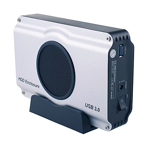 USB 3.0 To 3.5 Inch SATA I/ II/ III Aluminum Hard Drive Enclosure Case With Cooling Fan (Maximum Support 8TB)EU Plug