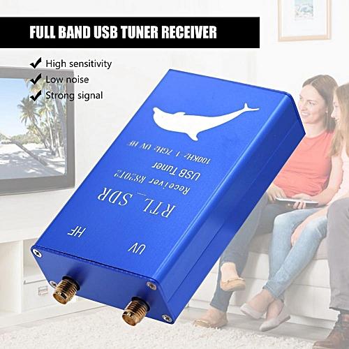 USB Tuner Receiver RTL2832U+R820T2 100Khz-1.7GHz Full Band UHF VHF HF RTL-SDR AM/ FM USB Tuner Receiver