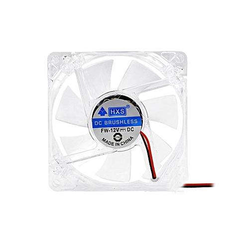 12V 12cm DC Fans Cooler Cooling Fan Radiator 4 Pin Computer Cabinet Blue