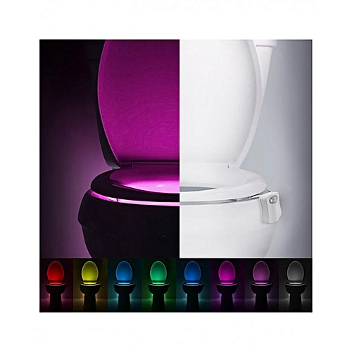 Hot Selling 8 Color Bathroom Toilet Night Light Auto Body Motion Sensor Activated Light On/off Seat Lamp Led Sensor Light Led Lamps Led Night Lights