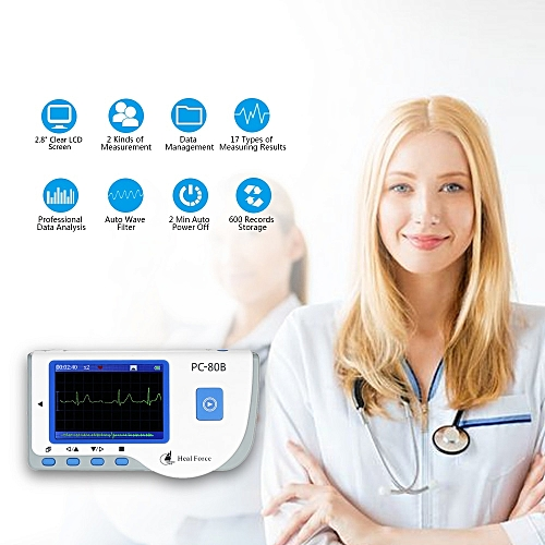 ECG EKG Monitor Machine Medical Portable Heart Rate Monitor USB Cable  Adhesive Electrode Lead Wires ECG Monitor