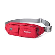 Waterproof Outdoor Sports Cycling Travel Waist Belt Big Capacity Running Waist Bag Wallet Purse Ultra-Light Shakeproof(Red.) for sale  Nigeria