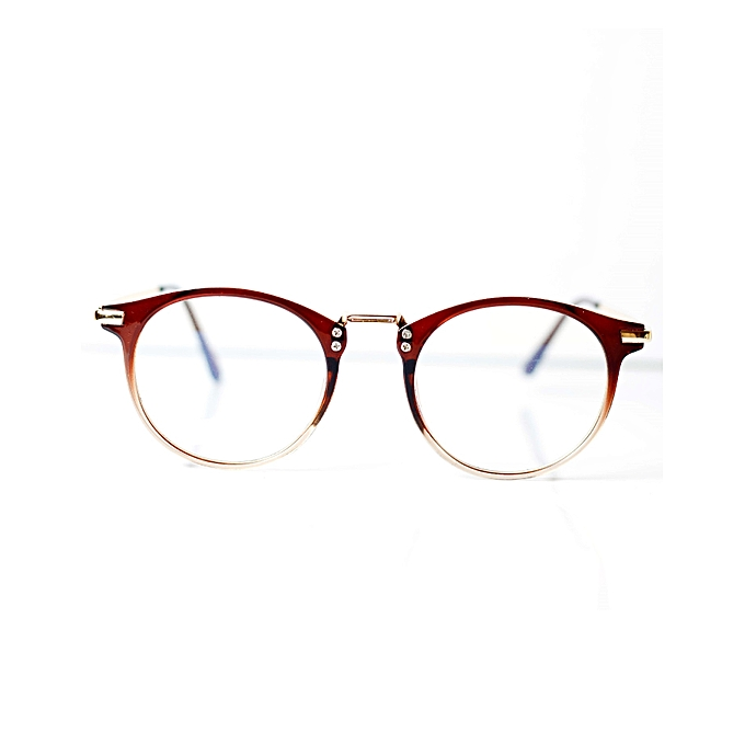 52baa759e3102 Fashion Men Round Retro Eye Glasses Prescription Optical Frame Brown ...