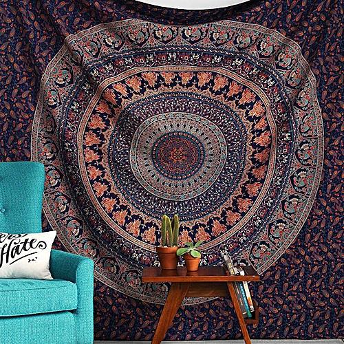 Honana WX-17 150x210cm Bohemian Style Polyester Fiber Beach Towel Shawl Mandala Rectangle Bed Sheet Tapestry 150*210